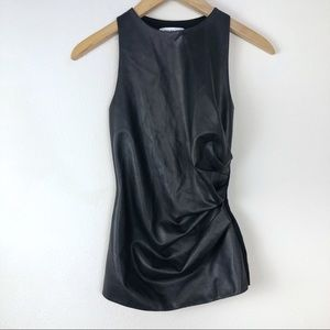 Bailey/44 Faux leather Sleeveless Top XS